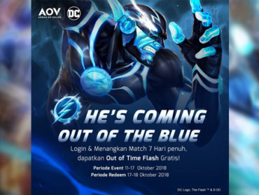 AOV Indonesia Bagikan Skin Out of Time The Flash Gratis