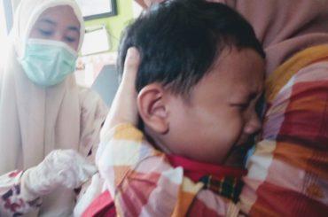Tangis dan Tawa di Sela Imunisasi Difteri TK Mojo Indah